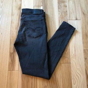 Levi's 710 Super Skinny Gray Jeans
